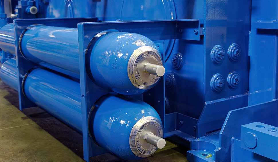Hydraulic system with accumulators