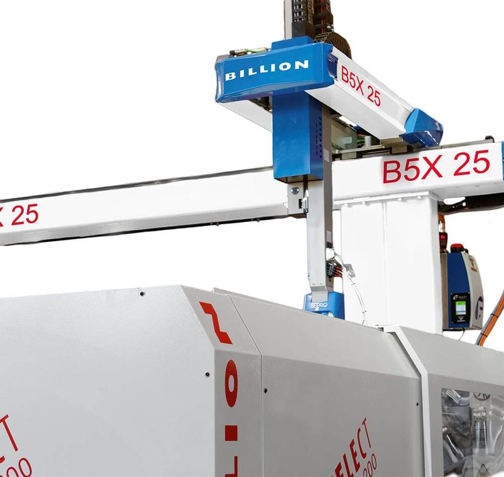 Billion  - Une large gamme de robots pour vos applications d'injection des matières plastiques